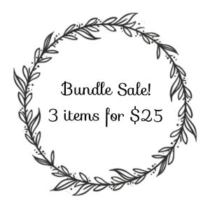 3 for $25 Bundle Sale